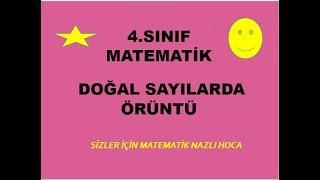 2019 4.SINIF DOĞAL SAYILARDA ÖRÜNTÜ