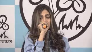 Nusrat Jahan Holds a Press Conference in Kolkata, West Bengal, India