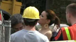 Eva Longoria & Teri Hatcher filming Desperate Housewives in Toluca Lake, CA
