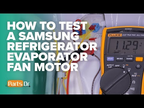 How To Voltage Test A Samsung Refrigerator Evaporator Fan Motor