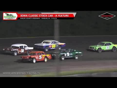 Feature action is here for the Iowa Classic Stock Cars, the drivers of these classic machines battle it out at the Shelby County Speedway. You can see this event ... - dirt track racing video image