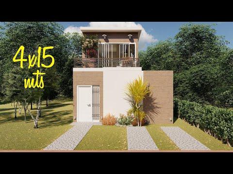 Casa De 4x15 Metros Con 3 Dormitorios