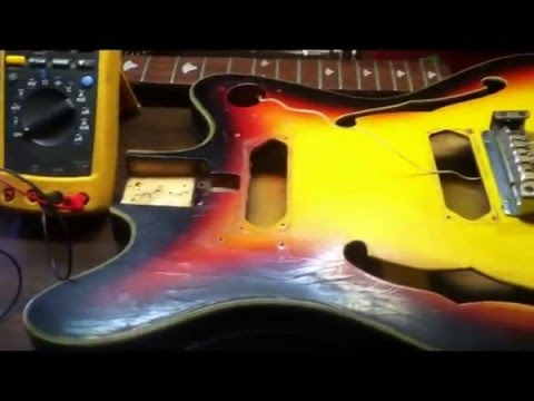Vintage Teisco Bass Guitar Complete Restoration (Part 1)