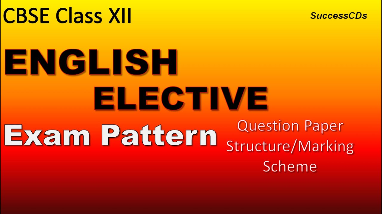 Cbse Class 12 English Elective 101