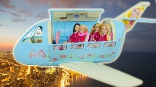 Barbie Super Airplane Unboxing Avião Flugzeug لعبة باربي Avion Pesawat terbang
