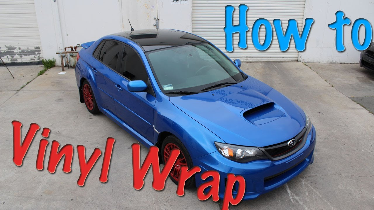 2011 Subaru WRX Vinyl Roof Wrap Full Install Tutorial   YouTube