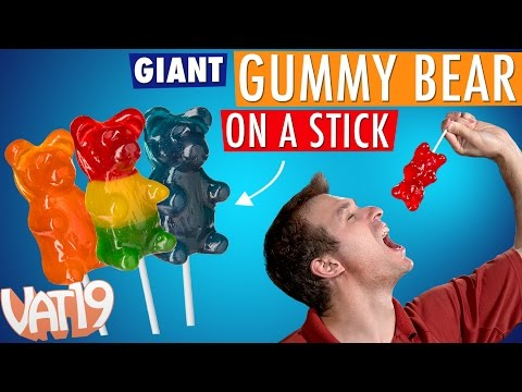 GIANT Gummy Bear on a Stick = 88 regular gummy bears