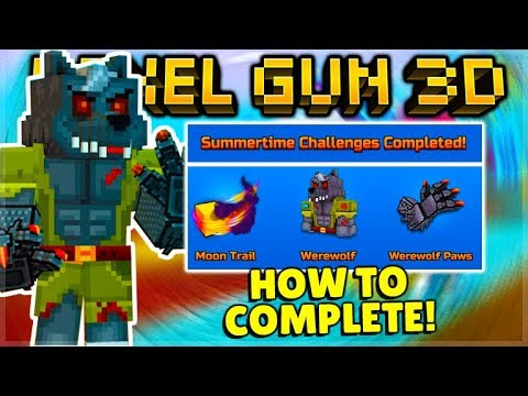 HOW TO COMPLETE SUMMERTIME CHALLENGES & GET WEREWOLF PAWS GUIDE TUTORIAL! | Pixel Gun 3D