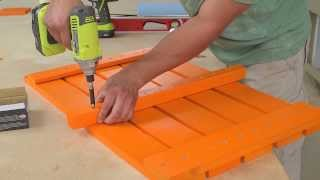 Home Depot How To Build A Garden Chair (spanish)