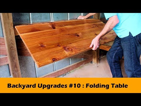 Simple Fold Down Table Bar DIY ~ Backyard Upgrades #10