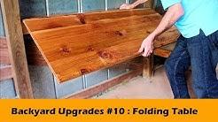 Simple Fold Down Table Bar DIY ~ Backyard Upgrades #10