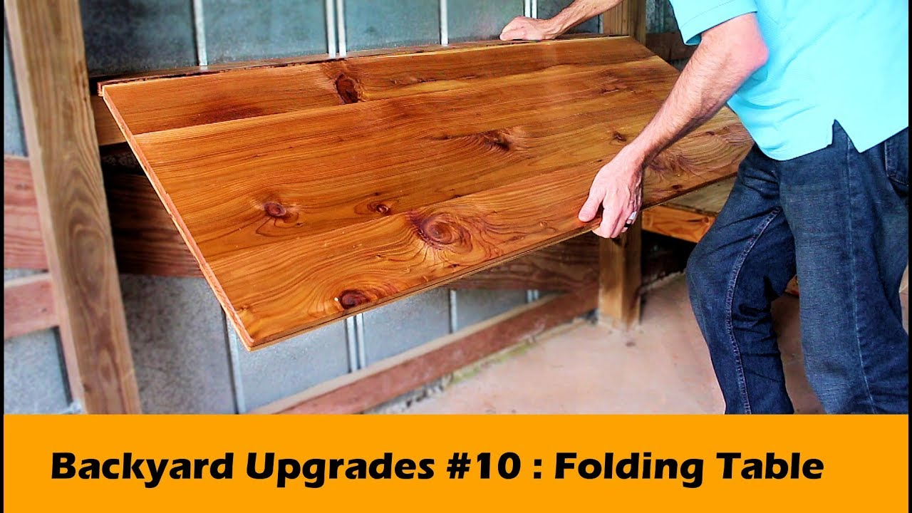 simple fold down table bar diy backyard upgrades 10