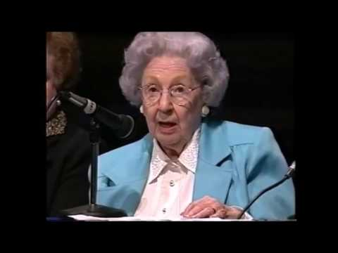 Margery Pay Hinckley and her daughter, Women's Conference, 1999