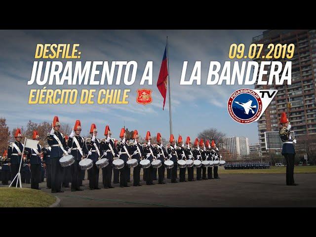 Desfile Juramento a la bandera, Ejército de Chile en la Escuela Militar, 9 de julio 2019 3/5