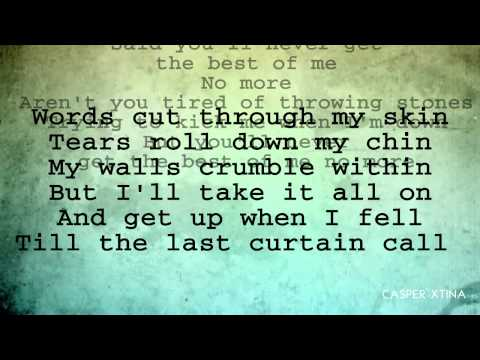 Christina Aguilera - Best Of Me with Lyrics