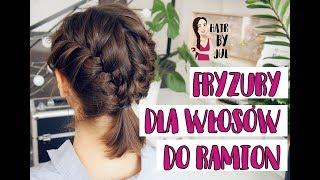 4 fryzury dla włosów do ramion: warkocze