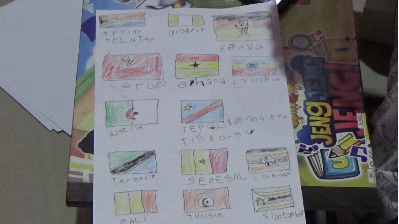 """""""Mewarnai Bendera Negara Benua Afrika"""""""
