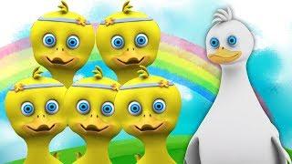 пять маленьких уток | детские стишки | Детские песни | Five Little Ducks | Little Treehouse