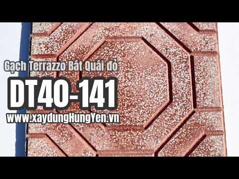 Gạch Lát Sân Vườn Terrazzo Bát Quái Màu đỏ DT40-141   Gạch Lát Sân Vườn, Gạch Lát Vỉa Hè Hưng Yên
