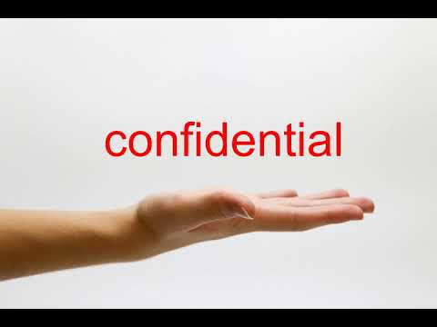 How to Pronounce confidential - American English