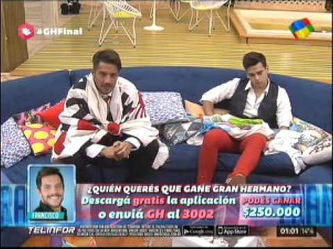 """Matías y Francisco le contaron al """"Big"""" por qué tienen que ganar el reality"""
