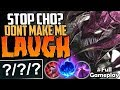 STOP CHO? DONT MAKE ME LAUGH | ONE SHOT YOUR FOOD | Cho'Gath vs Tryndamere TOP | S8 Ranked Gameplay