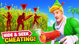 Cheating in Fortnite Hide & Seek...