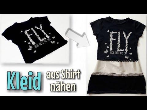 Kleid aus alten Shirt - Nähanleitung OHNE Schnittmuster - Für ...