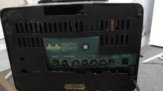 vintage radio guitar amp