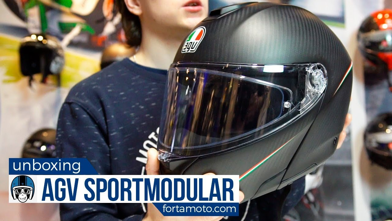 Unboxing The Agv Sport Modular Helmet Review Fortamoto Com Youtube