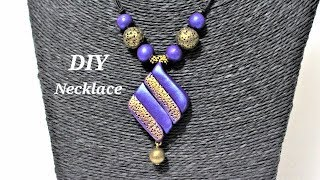 Polymer Clay Tutorials | 5 Minute DIY Jewelry | Simple And Easy-To-Make Polymer Clay Necklace