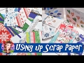 DIY Ideas for Using up Scrap Paper - Christmas Gift Tags, Mini Bags and Stars