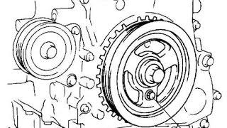 прикипел шкив на валу / безшпоночный ДВС Ford Mazda