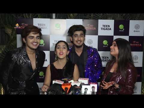 Teen Tigada Bhavin Bhanushali, Sameeksha Sud & Vishal Pandey launched their new song 'Tu Bhi Royega'