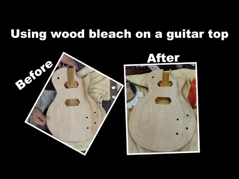 Using Wood Bleach on a Guitar Top - Cleaning up a Streak