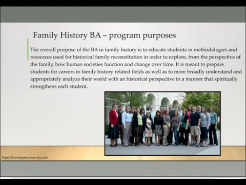 BYU Resources and Initiatives for Family History - Amy Harris