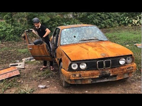 50 Years Old Bmw Car Restoration Very Old Rusty Restores The Bmw Car Door 4 Youtube