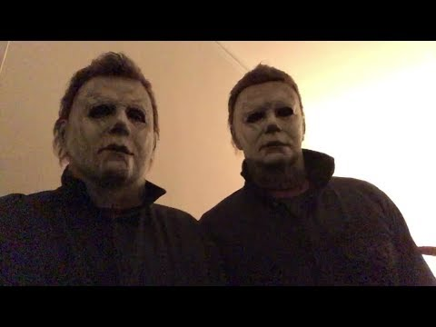 Nick Castle and James Jude Courtney in their Michael Myers costumes