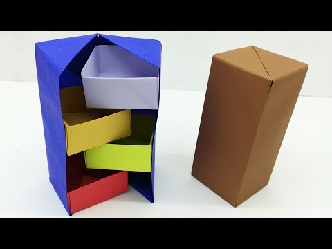 Secret Box Making Easy Tutorial For Kids | DIY Gift Box Origami | Paper Craft