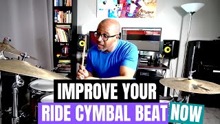 Jazz Drummer Q-Tip oḟ the Week: Three Ways To Improve Your Ride Cymbal Beat NOW!!