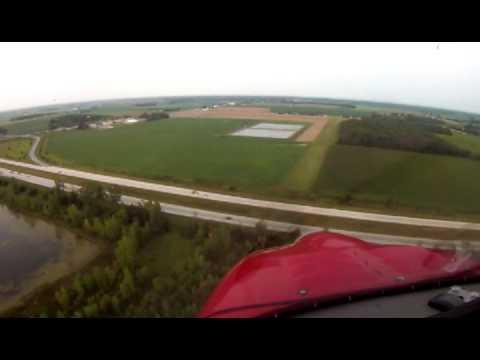 Rans S-6S Practice Flights aroun Midland and Pinconning , Michigan