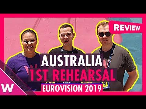 "Australia First Rehearsal: Kate Miller-Heidke ""Zero Gravity"" @ Eurovision 2019 (Reaction)"