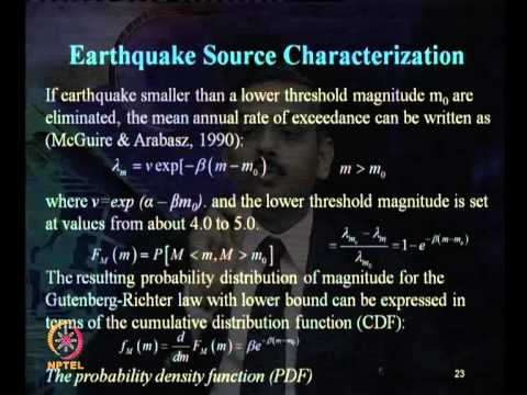 Mod-07 Lec-26 Seismic Hazard Analysis (continued) part –IV