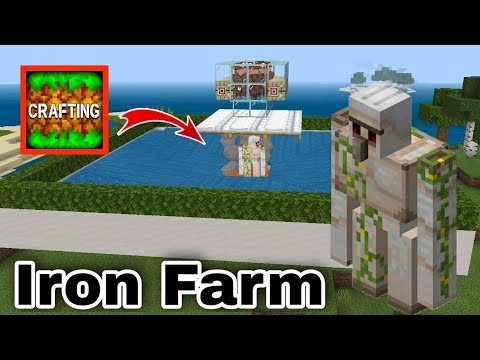 How To Make Automatic Iron Farm in Crafting and Building #117