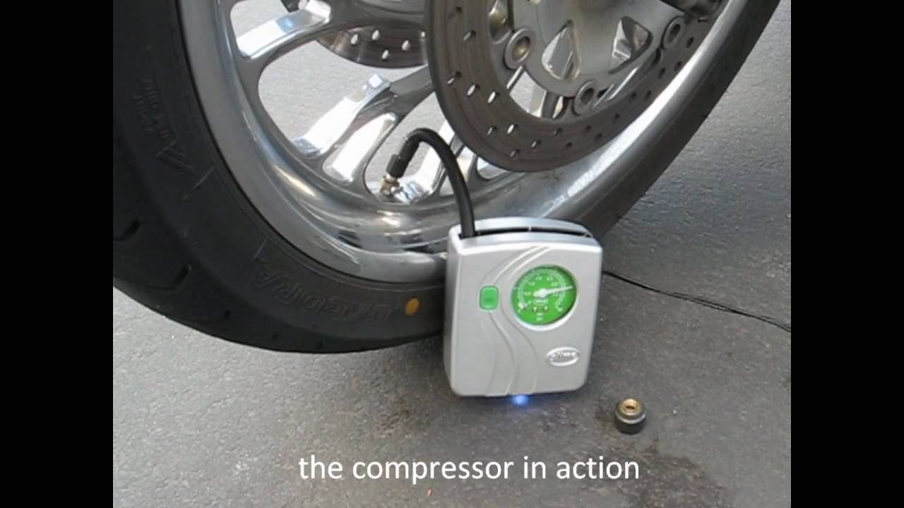 Mini Motorcycle Tire Compressor Youtube