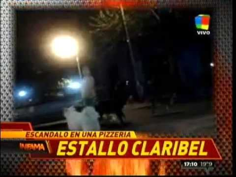 Claribel Medina le tiró la plata a un pizzero que le reclamaba una deuda