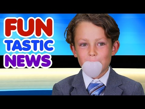Funtastic News - Bubble Gum | Funny Facts | Educational
