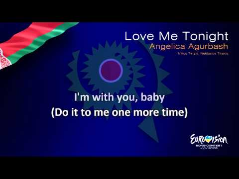 "Angelica Agurbash - ""Love Me Tonight"" (Belarus) - [Karaoke version]"