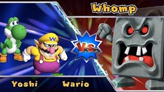 Mario Party 9 - Boss Rush (Wario vs Yoshi) - Mid Boss Battles | MarioGamers