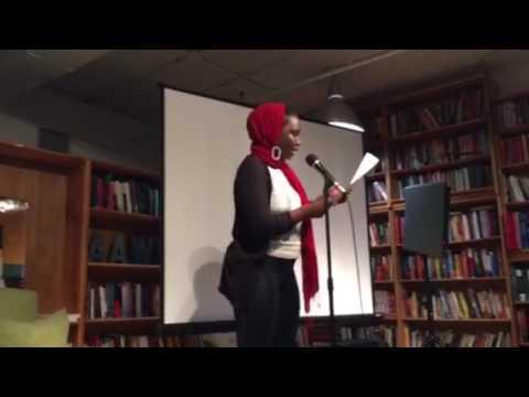 Amber Atiya at P&W's 2016 Cross Cultural Reading